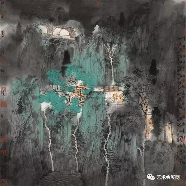 《丝路花雨01》 卢禹舜 98x98cm
