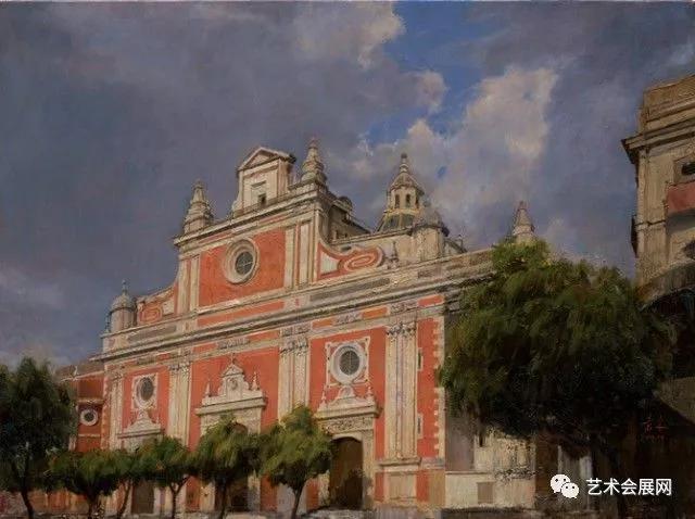 《萨尔瓦多教堂》60<em></em>x80cm  布面油画