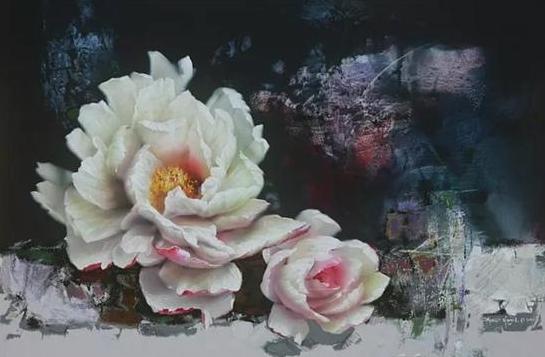 Chulhwan Park 《Peony 》 Acrylic on Canvas